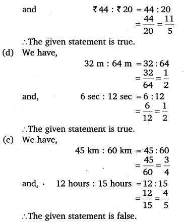 NCERT Solutions for Class 6 Maths Chapter 12 Ratio and Proportion 15