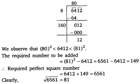 NCERT Solutions for Class 8 Maths Chapter 6 Squares and Square Roots 42