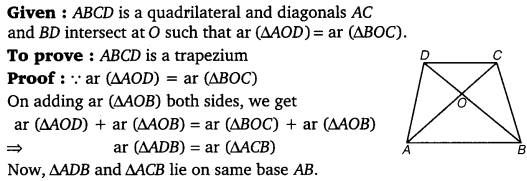 NCERT Solutions for Class 9 Maths Chapter 9 Areas of