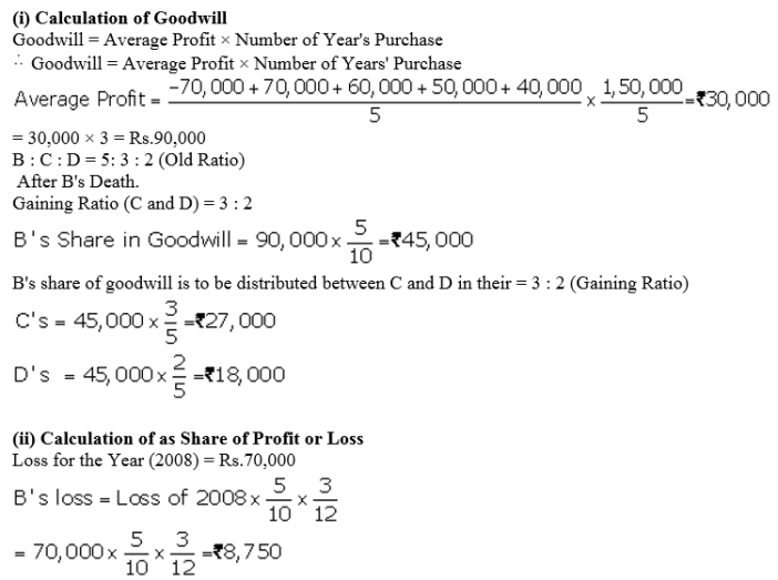 TS Grewal Accountancy Class 12 Solutions Chapter 5 Retirement Death of a Partner Q78