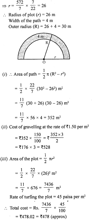 RD Sharma Class 10 Solutions Chapter 13 Areas Related to Circles Ex 13.1 25a