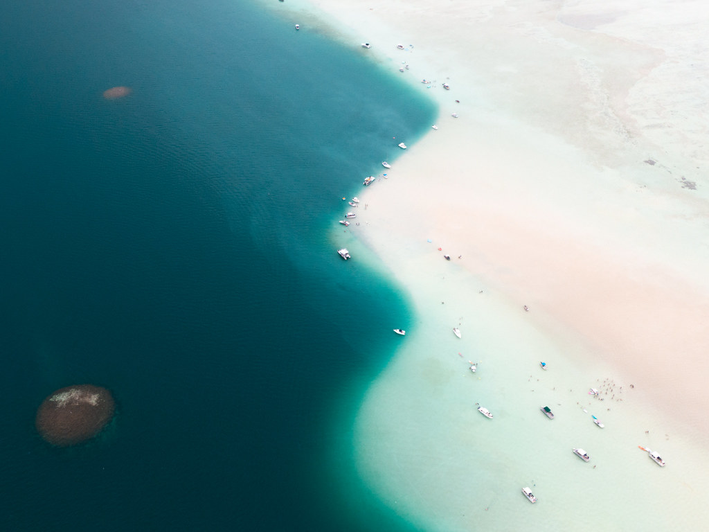 Kaneohe Sandbar on Oahu, Hawaii
