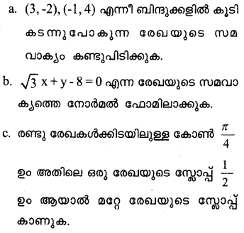 Plus One Maths Model Question Papers Paper 2Q19