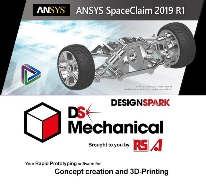 ANSYS SpaceClaim + DesignSpark Mechanical 2019 R1 x64 full