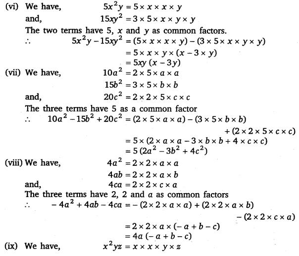 NCERT Solutions for Class 8 Maths Chapter 14 Factorisation 3