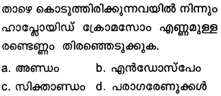 Plus Two Botany Model Question Papers Paper 2Q1