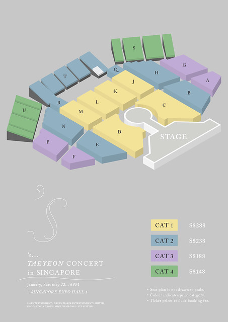 TAEYEON CONCERT IN SG SEATING PLAN