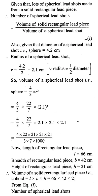 RD Sharma Class 10 Solutions Chapter 14 Surface Areas and Volumes Ex 14.1 10