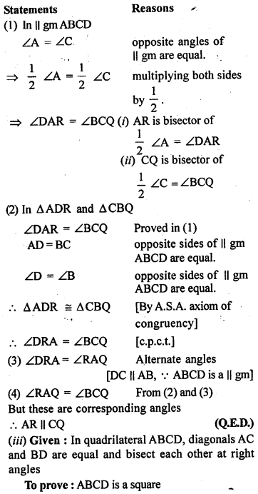 ML Aggarwal Class 9 Solutions for ICSE Maths Chapter 13 Rectilinear Figures  ex 11c