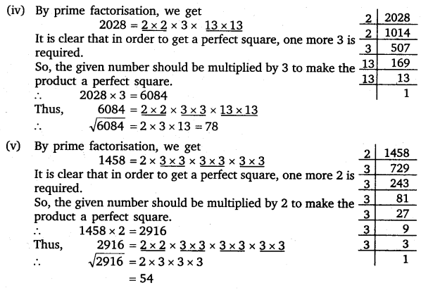 vedantu class 8 maths Chapter 6 Squares and Square Roots 10