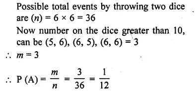 RD Sharma Class 10 Solutions Chapter 13 Probability