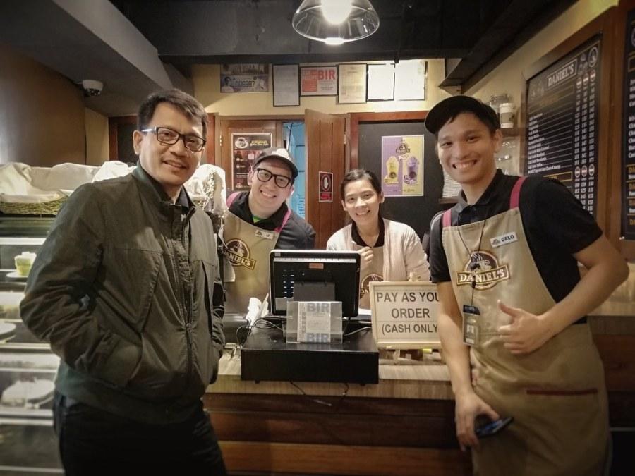 Daniel Razon with Daniels Coffee Staff
