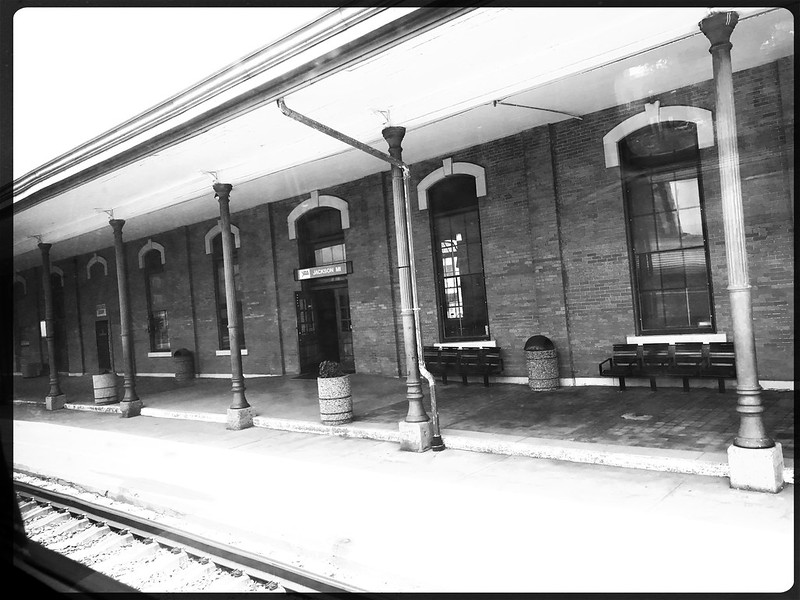 Train station in Jackson, Michigan