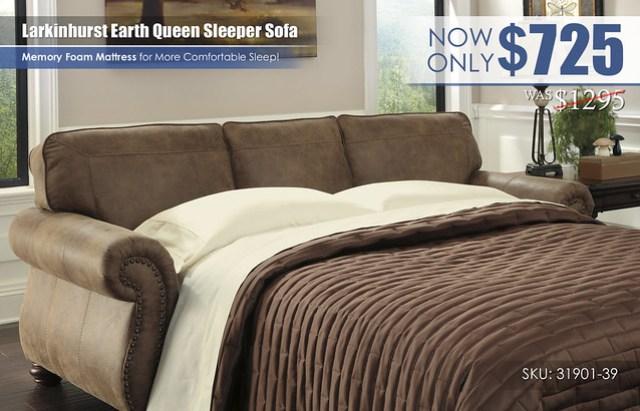 Larkinhurst Earth Queen Sleeper Sofa_31901-39