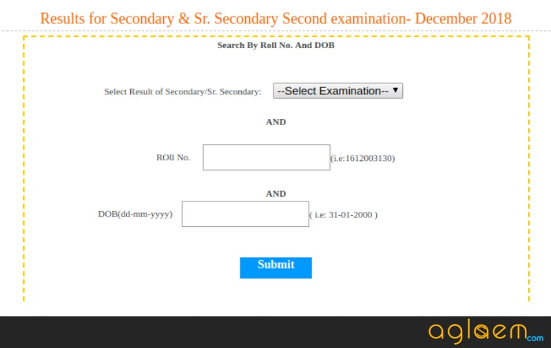BBOSE 10th Result December 2018