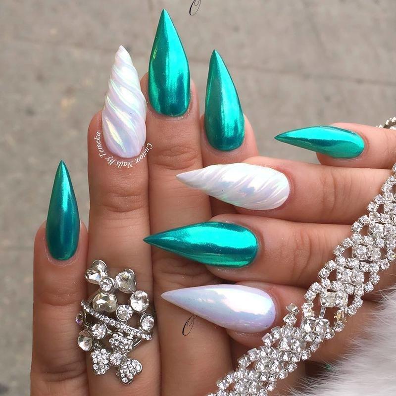 Chrome nail art designs 2019