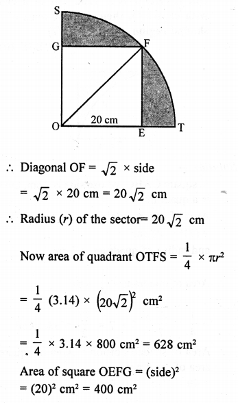 RD Sharma Class 10 Solutions Chapter 13 Areas Related to Circles Ex 13.4 - 22a