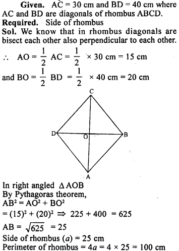 ML Aggarwal Class 9 Solutions for ICSE Maths Chapter 12 Pythagoras Theorem     18