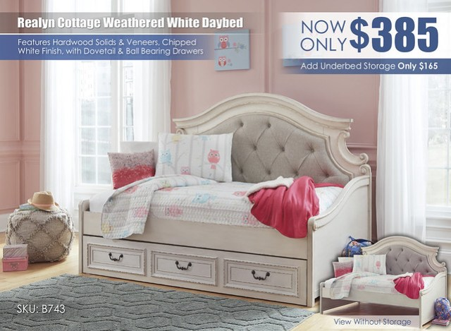 Realyn Cottage Daybed_B743-80