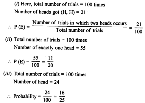 Selina Concise Mathematics class 7 ICSE Solutions - Probability-7a