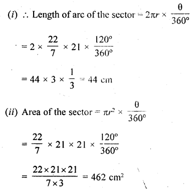 RD Sharma Class 10 Solutions Chapter 13 Areas Related to Circles Ex 13.2 - 14
