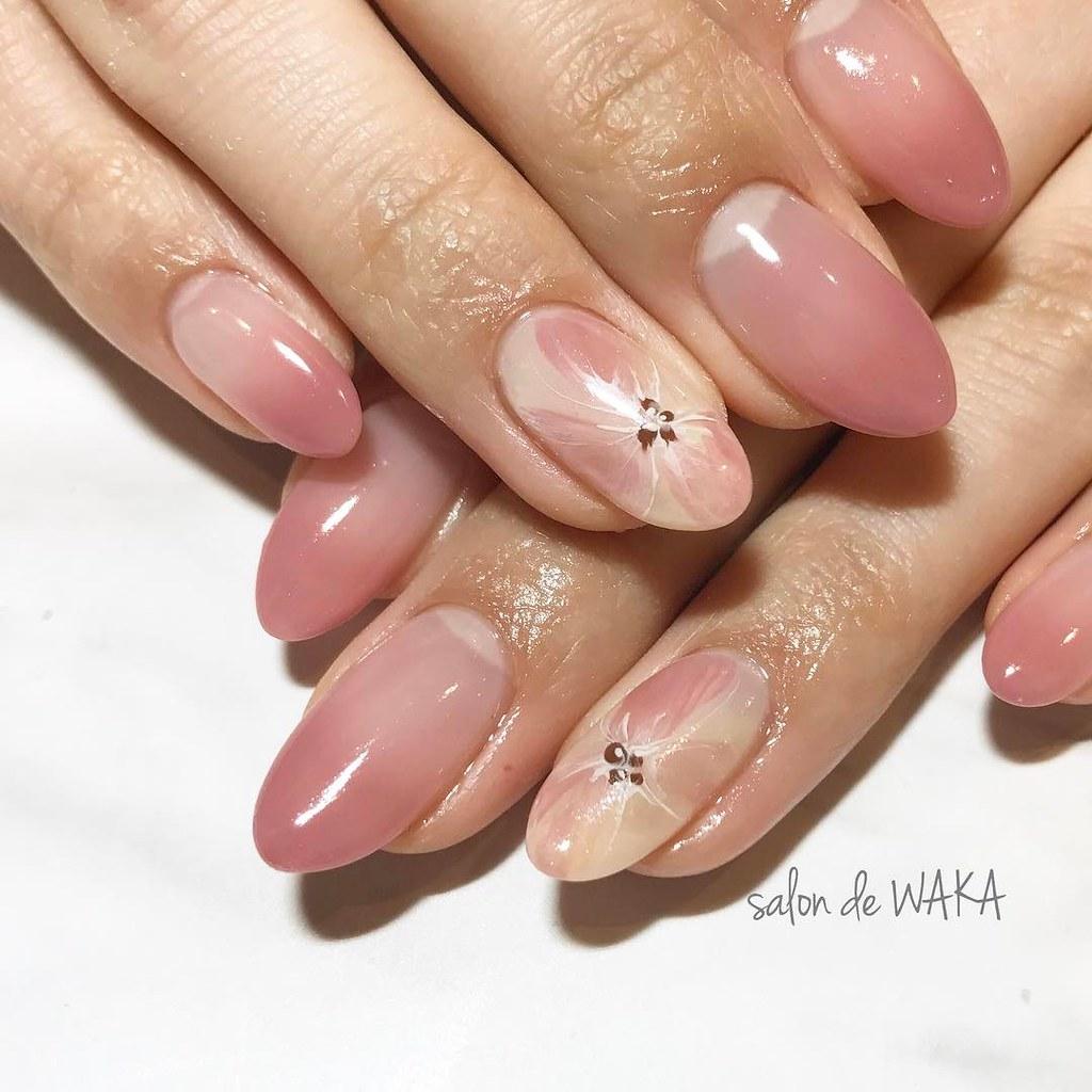 ♥ 漸層指甲的魅力!指上淡淡的暈開 19