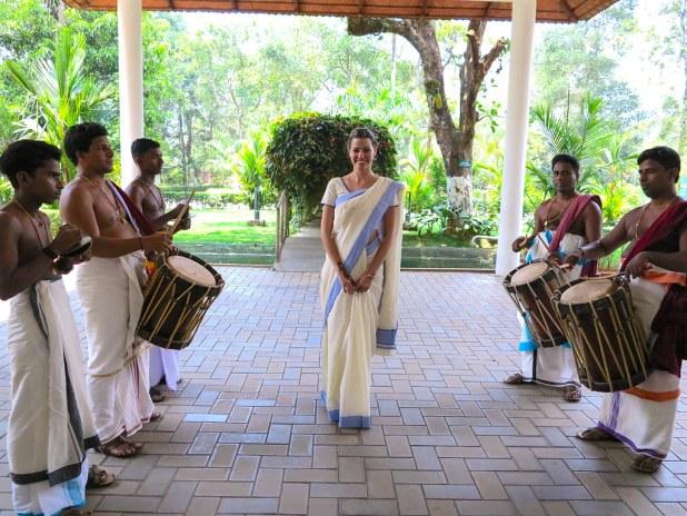 Usar un sari en India