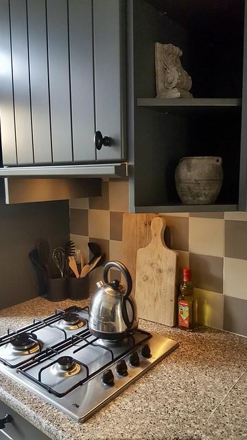 Fornuis snijplanken keuken antraciet