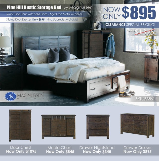 Pine Hill Rustic Storage Bed B3561_NOVUpdate