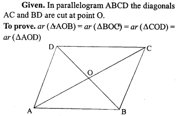 ML Aggarwal Class 9 Solutions for ICSE Maths Chapter 14 Theorems on Area     2