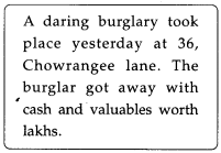 NCERT Solutions for Class 9 English Main Course Book Unit 1 People Chapter 2 A Burglary Attempt 9