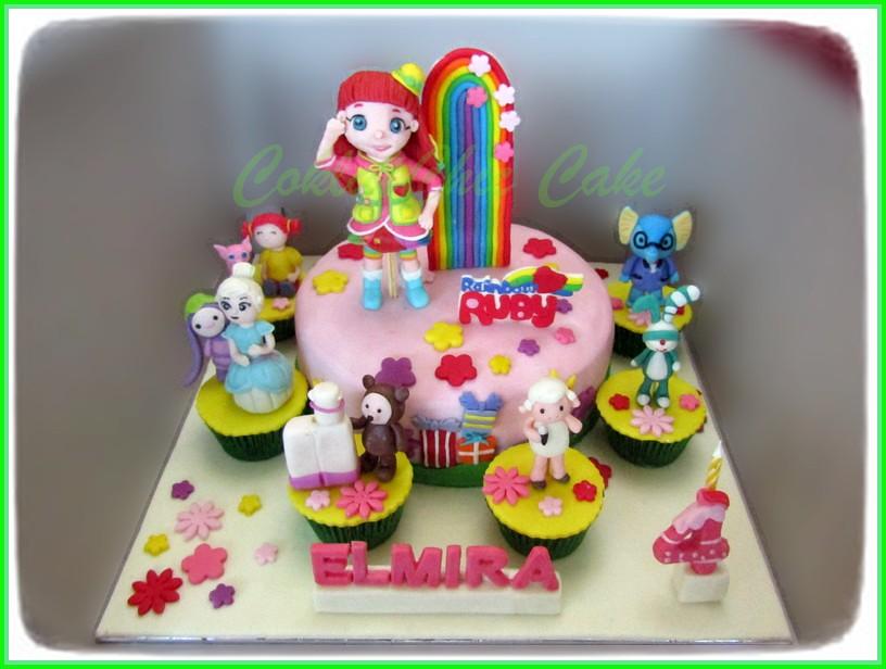 Cake Rainbow Ruby Elmira Coklatchic Cake