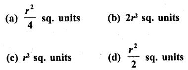 RD Sharma Class 10 Solutions Chapter 13 Areas Related to Circles MCQS -41
