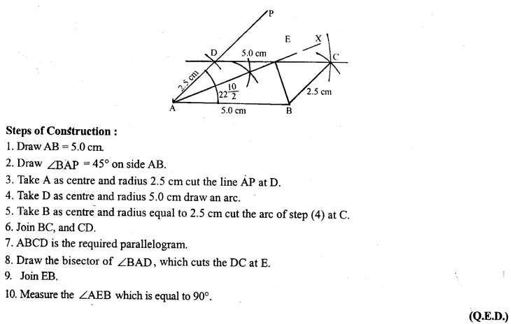 ML Aggarwal Class 9 Solutions for ICSE Maths Chapter 13 Rectilinear Figures  ct 8w