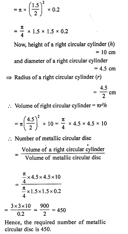 RD Sharma Class 10 Solutions Chapter 14 Surface Areas and Volumes Ex 14.1 9