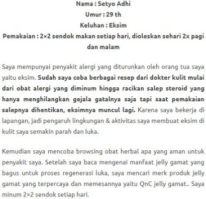 QNC JELLY GAMAT ATASI MASALAH KULIT KERING