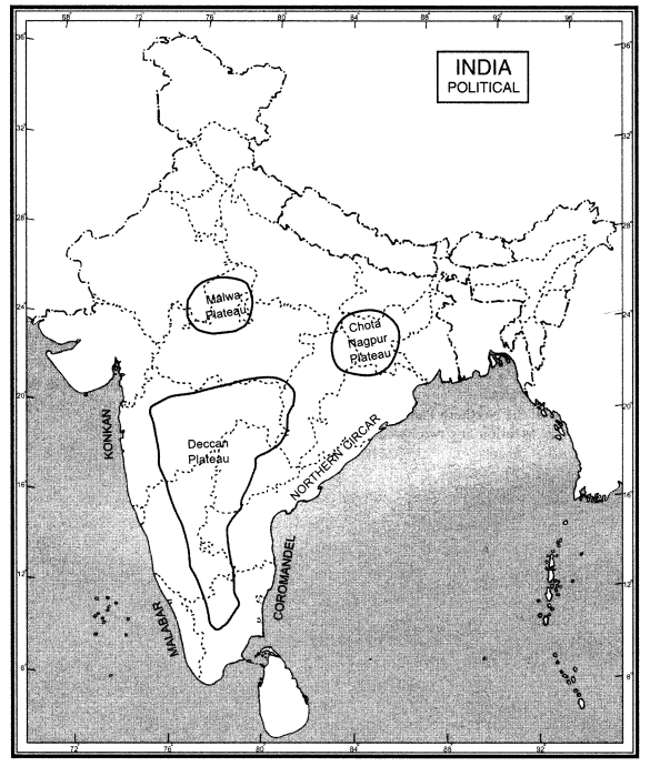 Extra Questions for Class 9 Social Science Geography Chapter 2 Physical Features of India 94 b
