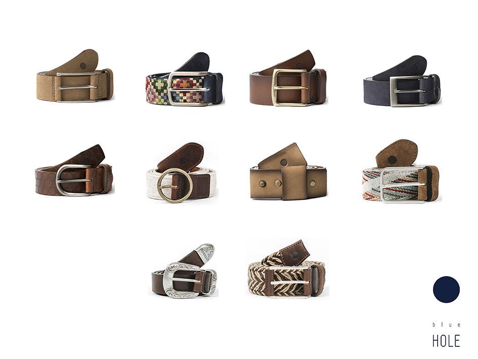 Los cinturones masculinos de blue hole están confeccionados en España con piel de curtición italiana