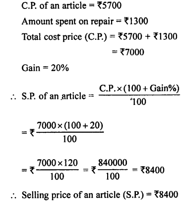 Selina Concise Mathematics class 7 ICSE Solutions - Profit, Loss and Discount-b17