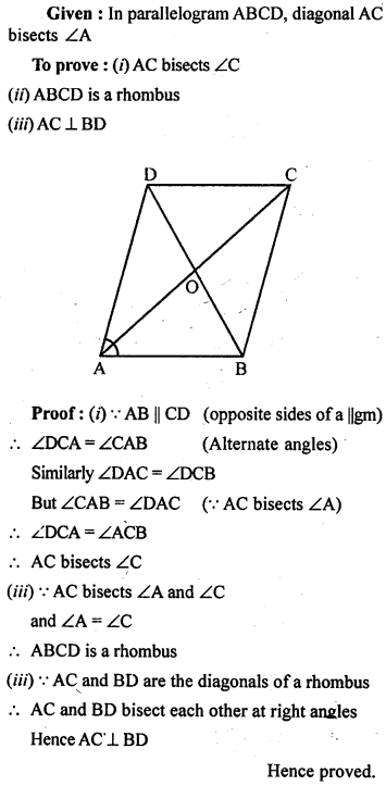 ML Aggarwal Class 9 Solutions for ICSE Maths Chapter 13 Rectilinear Figures  ex 10
