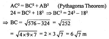 ML Aggarwal Class 9 Solutions for ICSE Maths Chapter 12 Pythagoras Theorem     3a
