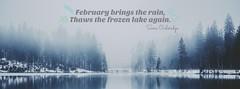 February brings the rain
