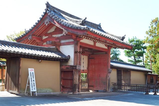 薬師寺 古い門