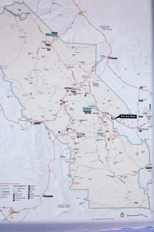 Death Valley map