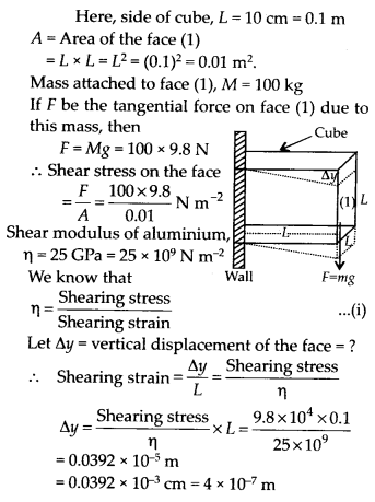 NCERT Solutions for Class 11 Physics Chapter 9 Mechanical properties of solid 5