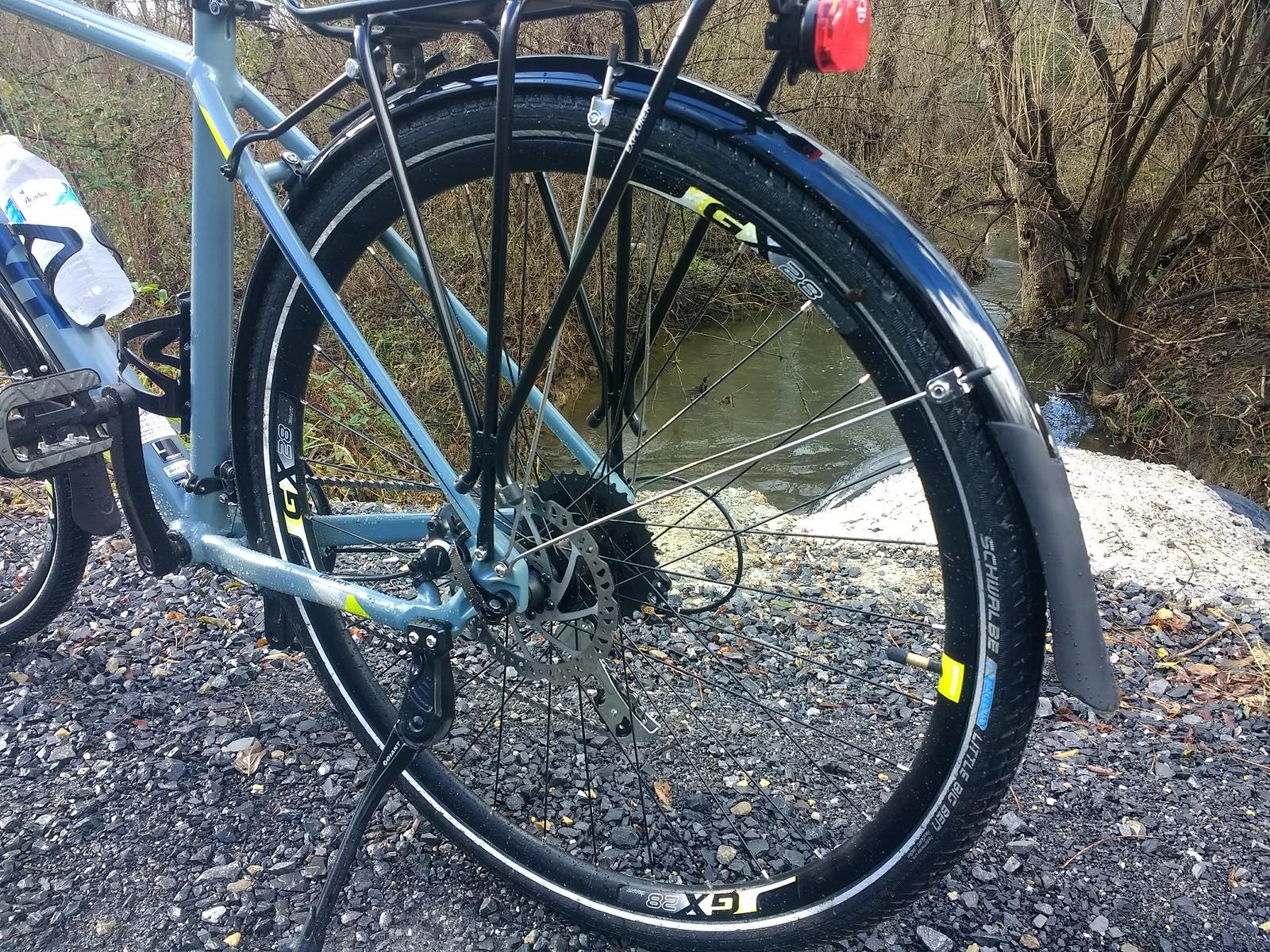 topeak bike rack on crosstrail bike