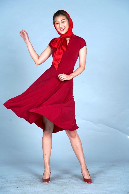 SM Supermalls Make a statement in red and top off the look with a headscarf