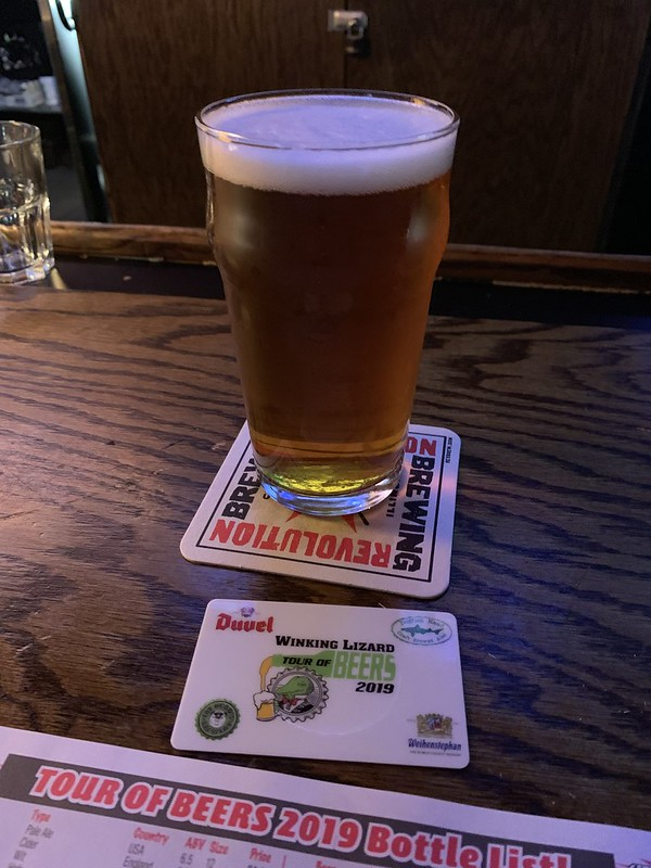 2019 Winking Lizard World Tour of Beers #17: Founders All Day IPA -  Less hoppy than the previous beer, but still very refreshing with hints of citrus.