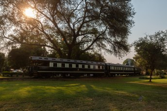 Deze trein staat nog niet in het museum, want is nog gewoon in gebruik.
