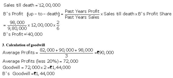 TS Grewal Accountancy Class 12 Solutions Chapter 5 Retirement Death of a Partner Q73.2
